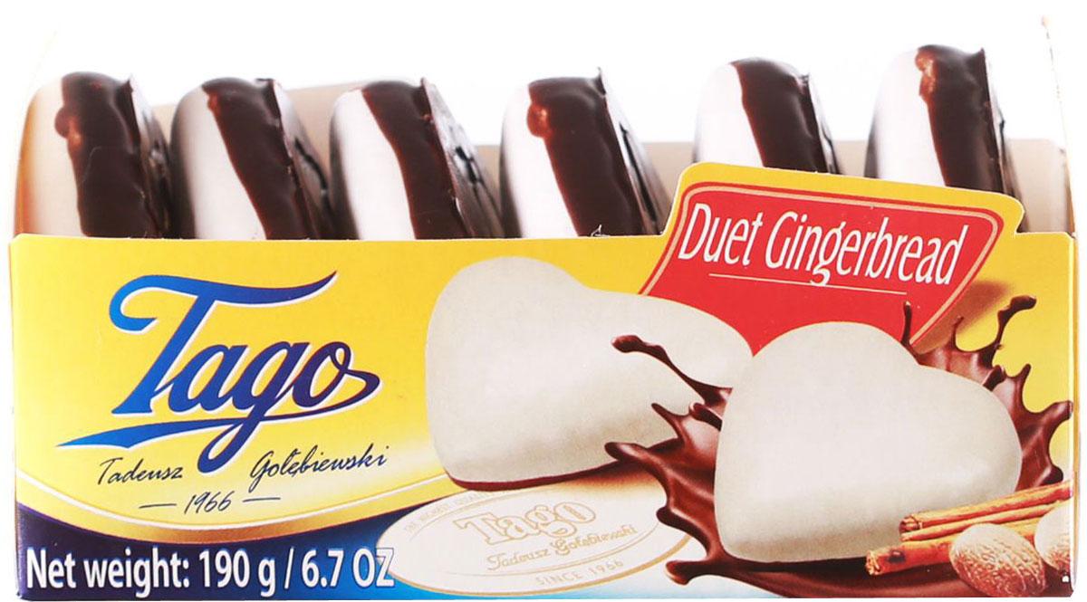 Tago Сердечко Пряники в сахарной глазури, 190 г3.33.01Пряники оригинальной формы (сердечка) в сахарной глазури. Подойдет для любителей традиционных пряников к чаю и кофе.