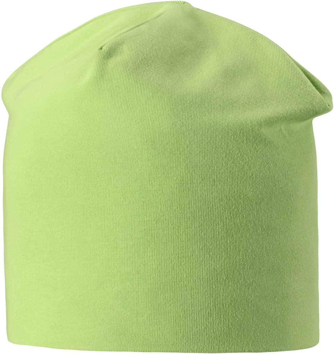 Шапка для мальчика Lassie, цвет: светло-зеленый. 7287058301. Размер 48/507287058301Легкая и удобная детская шапка в нескольких вариантах разных однотонных расцветок и ярких принтов. Шапка сделана из легкого и дышащего джерси на полной трикотажной подкладке из смесового хлопка. Ветронепроницаемые вставки в области ушей обеспечивают дополнительное утепление.