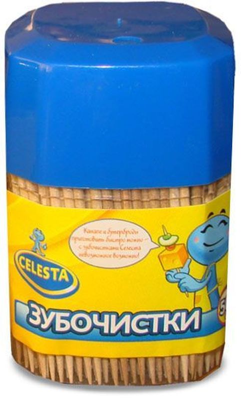Зубочистки Celesta, 500 шт17295Зубочистки Celesta изготовлены из натуральной древесины. Предназначены для чистки зубов, так же используются в кулинарии.