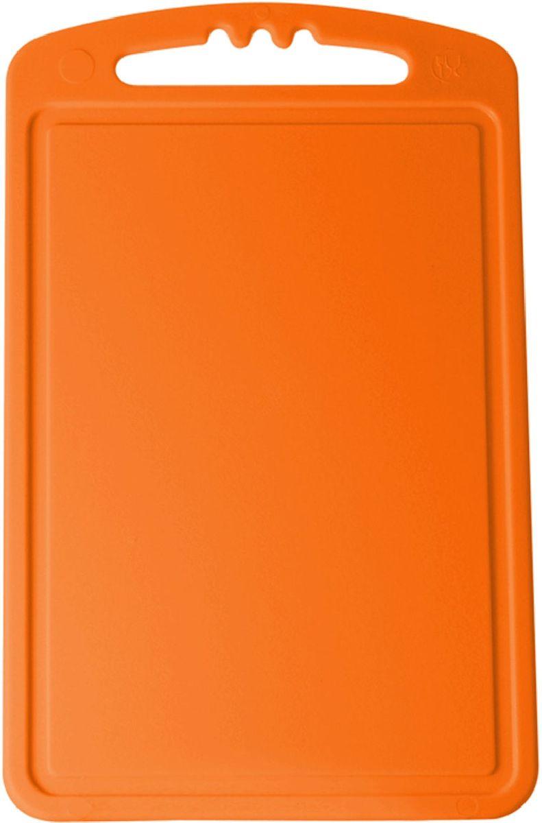 Доска разделочная Plastic Centre, цвет: оранжевый, 24 х 15 смПЦ1490МНДРазделочная доска может применяться для различных видов продуктов. Доска снабжена желобком для стока жидкости для удобства применения. Доска не впитывает запахи, устойчива к воздействию ножом, благодаря чему изделие более долговечно. На кухне рекомендовано иметь несколько досок для различных видов продуктов: мяса, рыбы, хлеба и овощей.