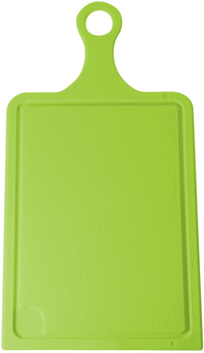 Доска разделочная Plastic Centre, цвет: салатовый, 43 х 22 смПЦ1492ЛМРазделочная доска Plastic Centre, выполненная из пластика, может применяться для различных видов продуктов. Изделие снабжено желобком для стока жидкости для удобства применения. Доска не впитывает запахи, устойчива к воздействию ножом, благодаря чему изделие более долговечно. На кухне рекомендовано иметь несколько досок для различных видов продуктов: мяса, рыбы, хлеба и овощей.
