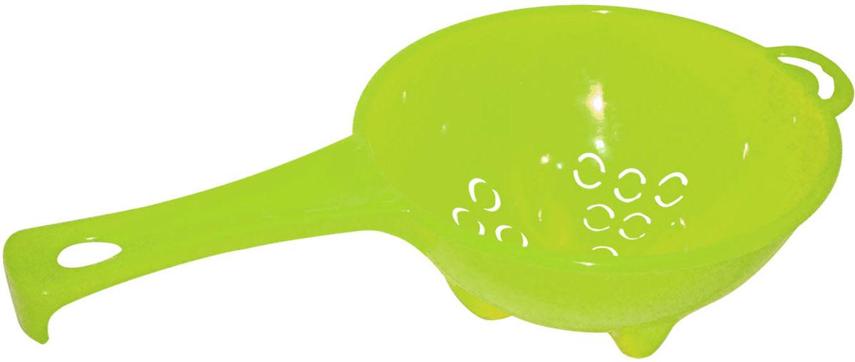 Дуршлаг Plastic Centre Organiq, с ручкой, цвет: светло-зеленый, диаметр 20 см centre speaker