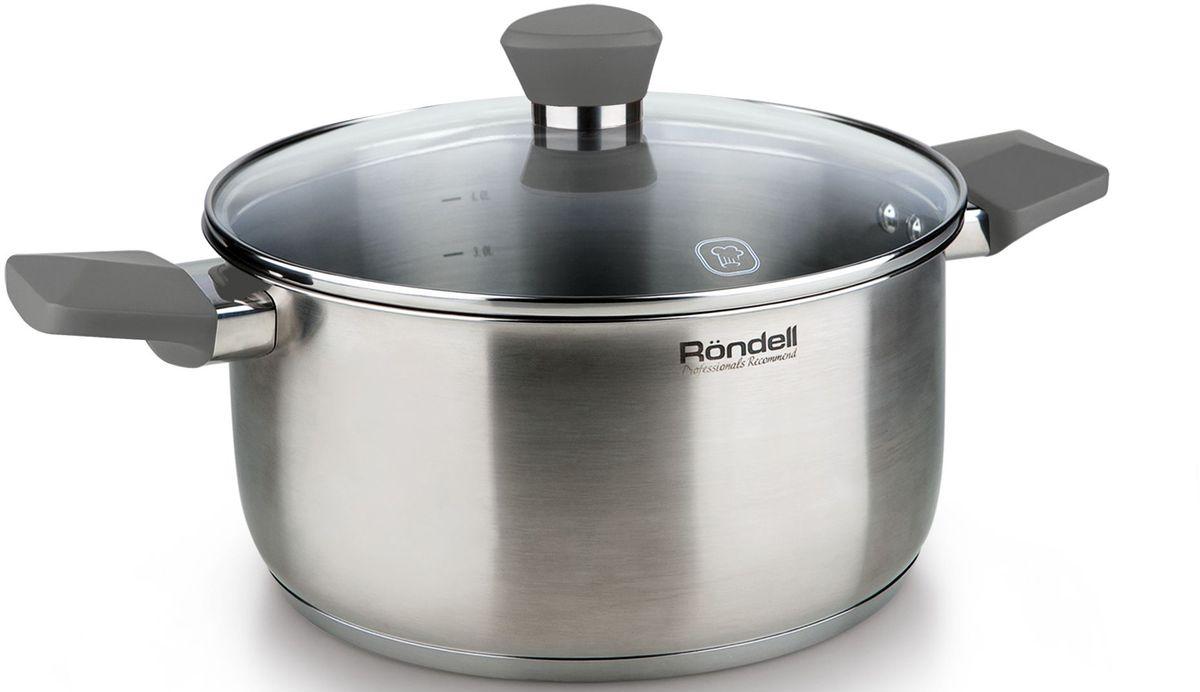 Кастрюля Rondell  Strike  с крышкой, 4,8 л - Посуда для приготовления