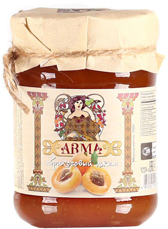 ARMA Джем абрикосовый, 300 г arma варенье из белой черешни 300 г