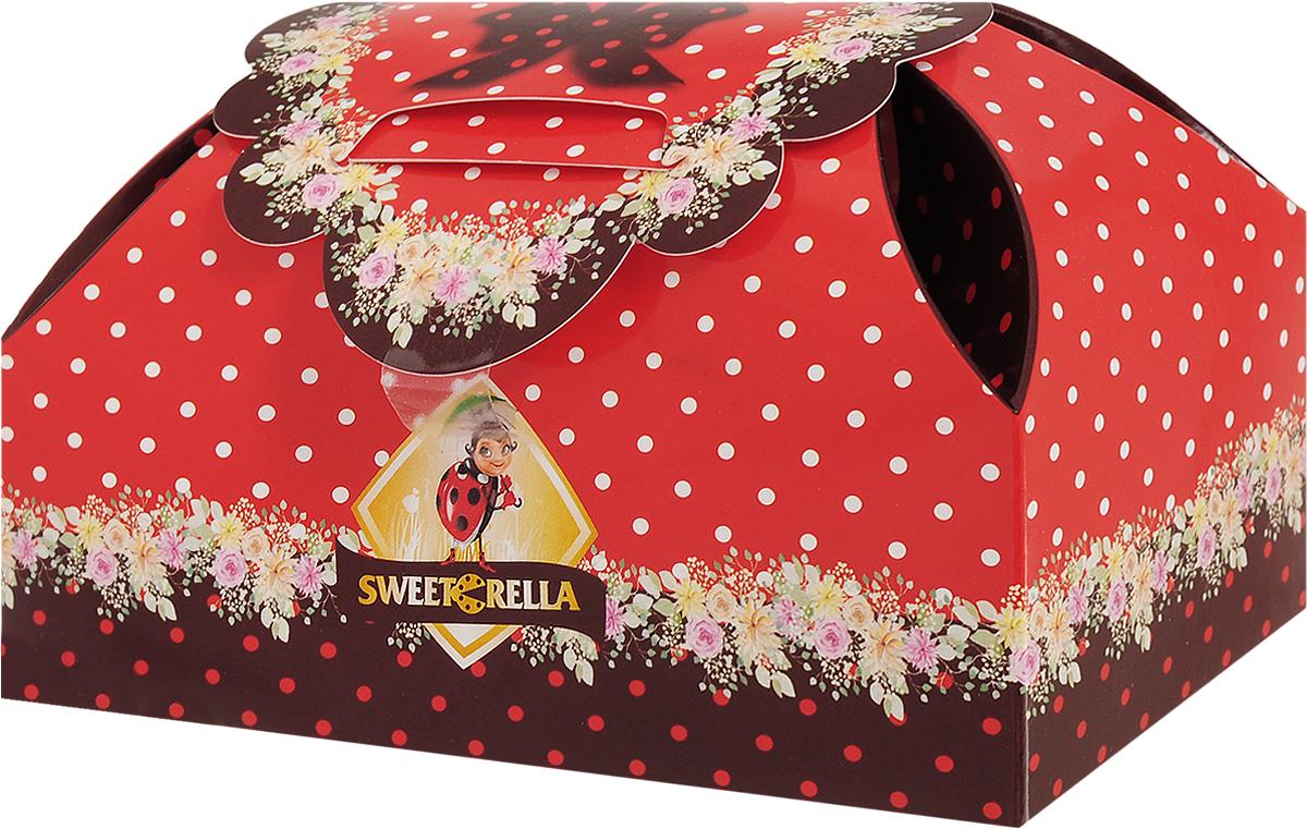 Sweeterella набор шоколадных конфет шкатулка сладостей, 155 г baron brazil конфеты из темного шоколада с апельсиновой начинкой 100 г