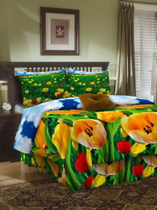Комплект белья ROKO, 2-спальный, наволочки 70х70, цвет: зеленый, желтый, красный204Комплект белья ROKO состоит из простыни, пододеяльника и двух наволочек. Для производства постельного белья используются экологичные ткани высочайшего качества. Бязь - хлопчатобумажная плотная ткань полотняного переплетения. Отличается прочностью и стойкостью к многочисленным стиркам. Бязь считается одной из наиболее подходящих тканей для производства постельного белья и пользуется в России большим спросом.