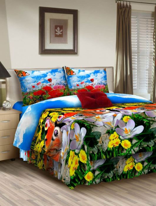 Комплект белья ROKO, евро, наволочки 70х70, цвет: голубой, зеленый, красный115905Комплект белья ROKO состоит из простыни, пододеяльника и двух наволочек. Для производства постельного белья используются экологичные ткани высочайшего качества. Бязь - хлопчатобумажная плотная ткань полотняного переплетения. Отличается прочностью и стойкостью к многочисленным стиркам. Бязь считается одной из наиболее подходящих тканей для производства постельного белья и пользуется в России большим спросом.