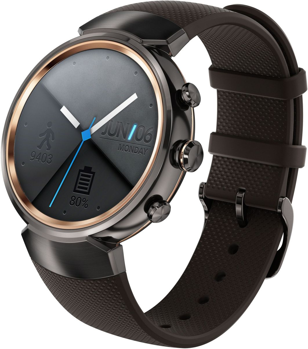 ASUS ZenWatch 3 WI503Q, Gunmetal смарт-часыWI503Q-1RGRY0011ASUS ZenWatch 3 - это современное цифровое устройство, выполненное в соответствии с давними традициями часового искусства из высококачественных материалов и с вниманием к каждой детали. Эти часы умеют делать гораздо больше, чем просто показывать время, а благодаря широким возможностям по персонализации их интерфейса вы легко можете настроить их по своему вкусу. Длительное время автономной работы и технология быстрой подзарядки аккумулятора делают ASUS ZenWatch 3 по-настоящему мобильным устройством, которое всегда будет готово к работе.Своим внешним видом ASUS ZenWatch 3 ближе к традиционным часам, чем к современным цифровым гаджетам. Их стильный дизайн вдохновлен образом солнечного затмения, а широчайшая функциональность реализована с безупречным мастерством.Корпус часов ZenWatch 3 изготовлен из ювелирной нержавеющей стали марки 316L, которая наделяет их не только превосходным внешним видом, но и долговечностью, ведь ее прочность на 82% выше по сравнению с обычной сталью. Высокий статус устройства подчеркивает тонкая отделка оправы.В облике нового устройства ASUS можно отметить необычные для умных часов элементы, а именно три боковых кнопки. Верхняя кнопка является программируемой. Она предоставляет доступ к любимому приложению или функции. Средняя кнопка переключает часы в различные режимы работы, а нижняя моментально активирует специальный энергосберегающий режим.Три визуальных темы и более 50 эксклюзивных вариантов циферблата, с которыми поставляются часы ZenWatch 3, позволяют легко настроить их внешний вид по своему вкусу.Часы ZenWatch 3 помогают структурировать различную информацию - сообщения от друзей, напоминания о запланированных встречах, прогноз погоды и многое другое - и выдают ее в нужный момент в удобном для восприятия формате.ZenWatch Manager - это приложение для смартфонов, которое предназначено для управления различными функциями часов ZenWatch 3. С его помощью можно выбрать циферблат и выве