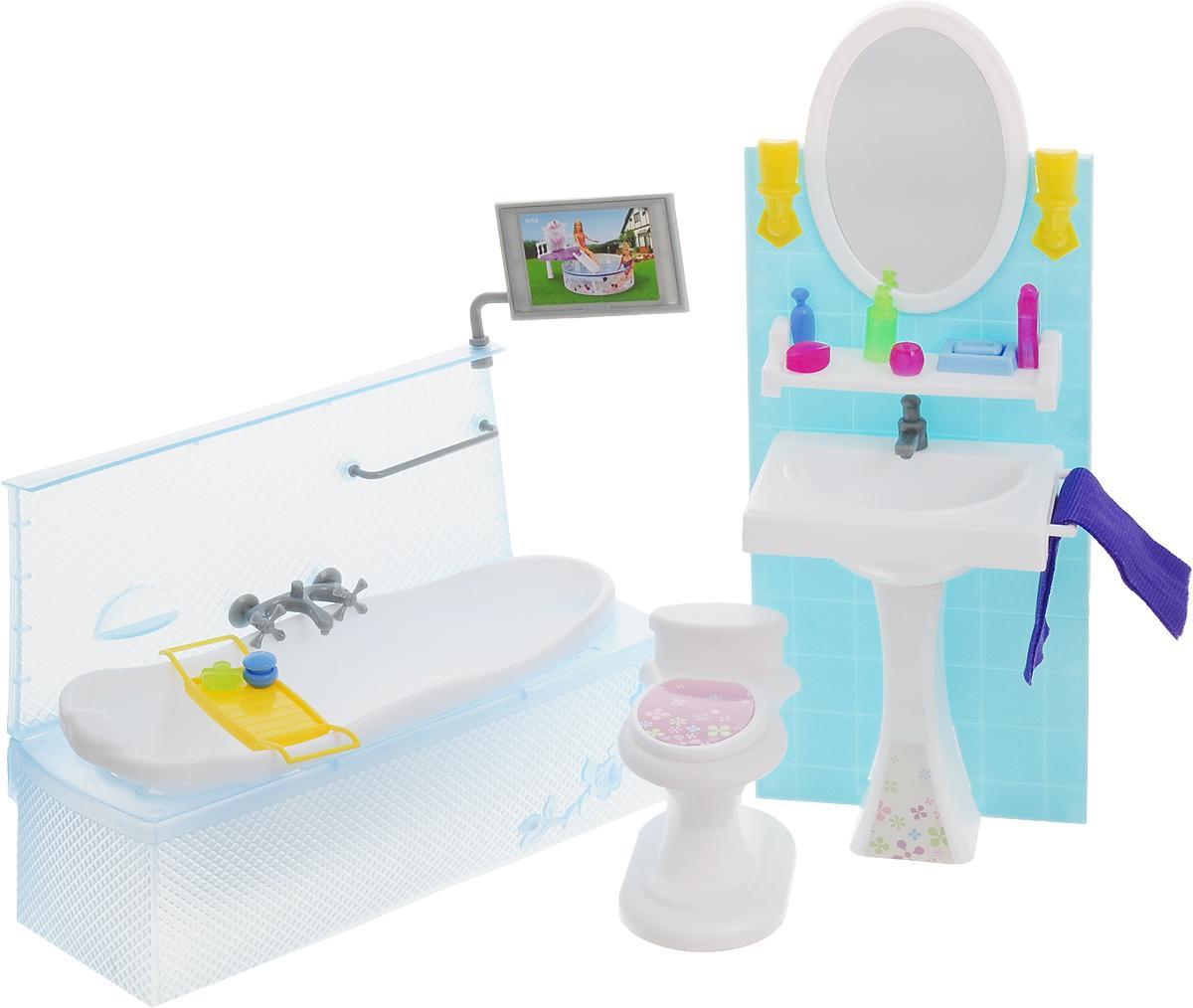 Well Success Toys Мебель для кукол Ванная комната ванная комната мди