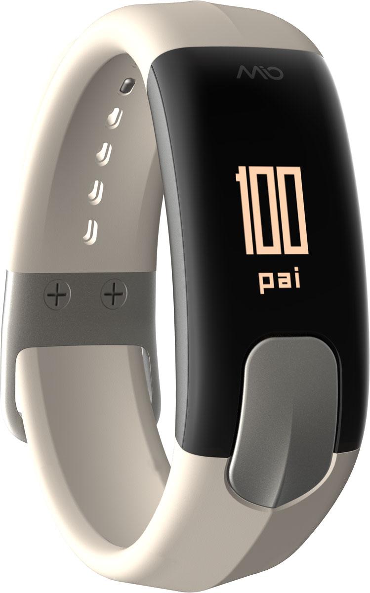 Фитнес-трекер Mio Slice Small, цвет: серый. 60P-STO-SMA60P-STO-SMAMio Slice Small - это первое носимое устройство, которое записывает ваш пульс в течение всего дня и преобразует собранные данные в очки PAI (Personal Activity Intelligence). PAI - это революционный персонализированный индекс активности, учитывающий реакцию организма на физические нагрузки. Помимо пульса, SLICE также позволяет отслеживать качество сна, расход калорий, дистанцию и другие показатели. И все это в одном стильном, влагозащищенном устройстве с простым и понятным управлением.Особенности:- Учет и отображение на дисплее очков PAI,- Круглосуточный контроль пульса (оптический датчик Mio),- Подсчет ежедневной активности (шаги, калории, дистанция),- Анализ качества сна по пульсу и минимального ЧСС за ночь,- Уведомления о входящих звонках и текстовых сообщениях со смартфона,- Влагозащищенность: выдерживает погружение на глубину до 30 метров,- Аккумулятор: одного заряда хватает на 5 дней активного использования,- Встроенная память: может сохранять до 7 дней полных данных об активности, сне и пульсе,- Совместимость: работает с большинством популярных фитнес- и спортивных приложений.