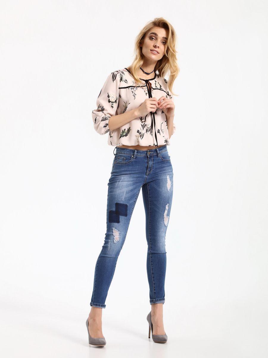 Блузка женская Top Secret, цвет: светло-розовый. SBD0685JR. Размер 34 (42)SBD0685JRБлузка женская Top Secret выполнена из вискозы. Модель с круглым вырезом горловины и рукавами 3/4.
