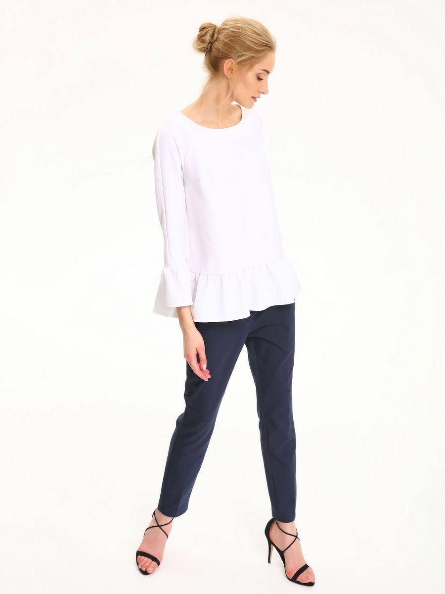 Блузка женская Top Secret, цвет: белый. SBD0696BI. Размер 38 (46)SBD0696BIБлузка женская Top Secret выполнена из полиэстера. Модель с круглым вырезом горловины и рукавами 7/8.
