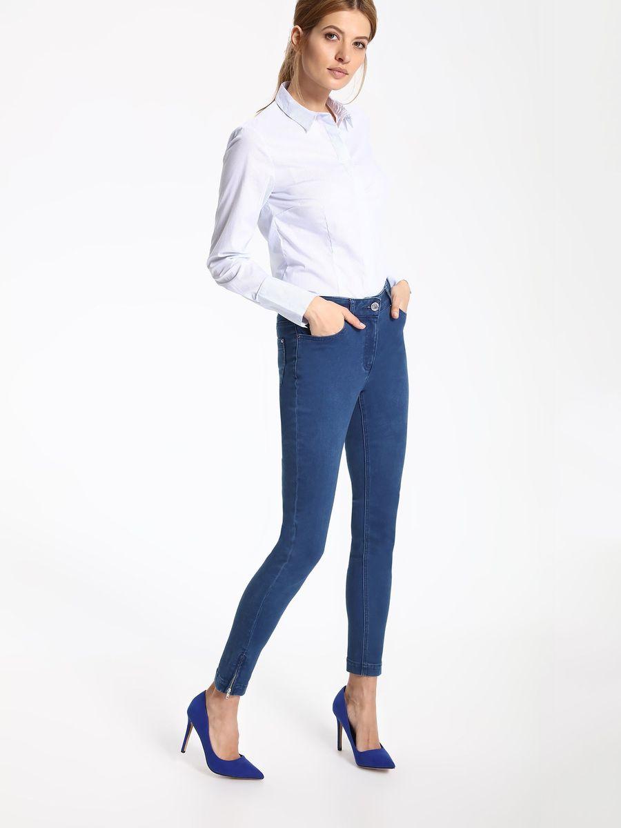Рубашка женская Top Secret, цвет: белый. SKL2263BI. Размер 34 (42)SKL2263BIРубашка женская Top Secret выполнена из хлопка, полиамида и эластана. Модель с отложным воротником застегивается на пуговицы.