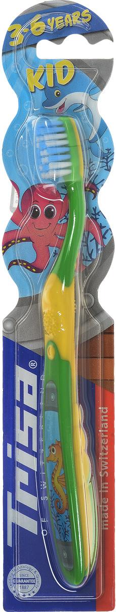 Trisa зубная щётка Кид детская610070_зеленый/желтыйTrisa зубная щётка Кид детская