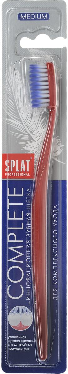 SPLAT Зубная щетка Complete Soft, для комплексного ухода, средняя, цвет: красный щетка зуб splat professional complete medium