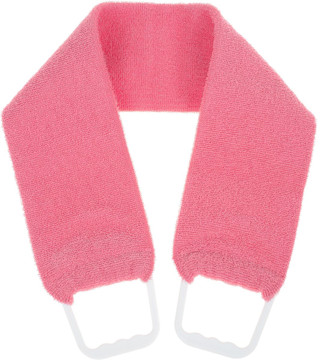 Riffi Мочалка-пояс, двухсторонняя, цвет: коралловый мочалка варежка массажная riffi вязаная 190