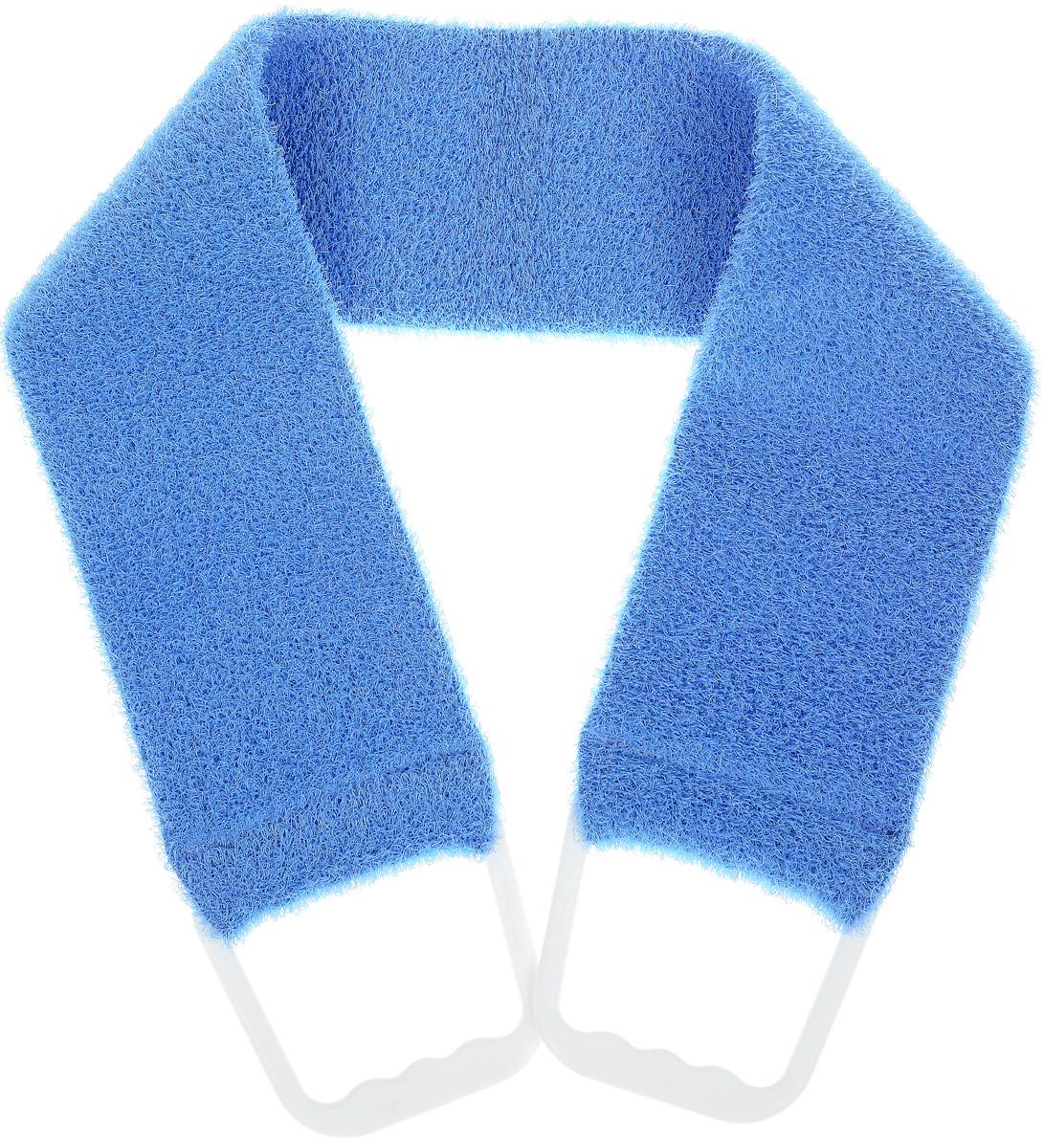 Riffi Мочалка-пояс, массажная, жесткая, цвет: синий мочалка варежка массажная riffi для спортивного массажа цвет бежевый