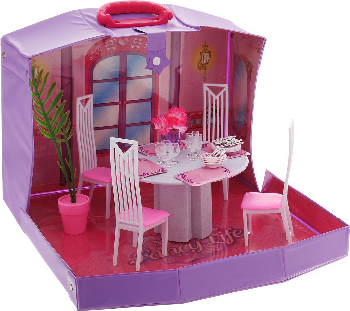 Well Success Toys Мебель для кукол Столовая в чемоданчике мебель для гостиной стенки горки