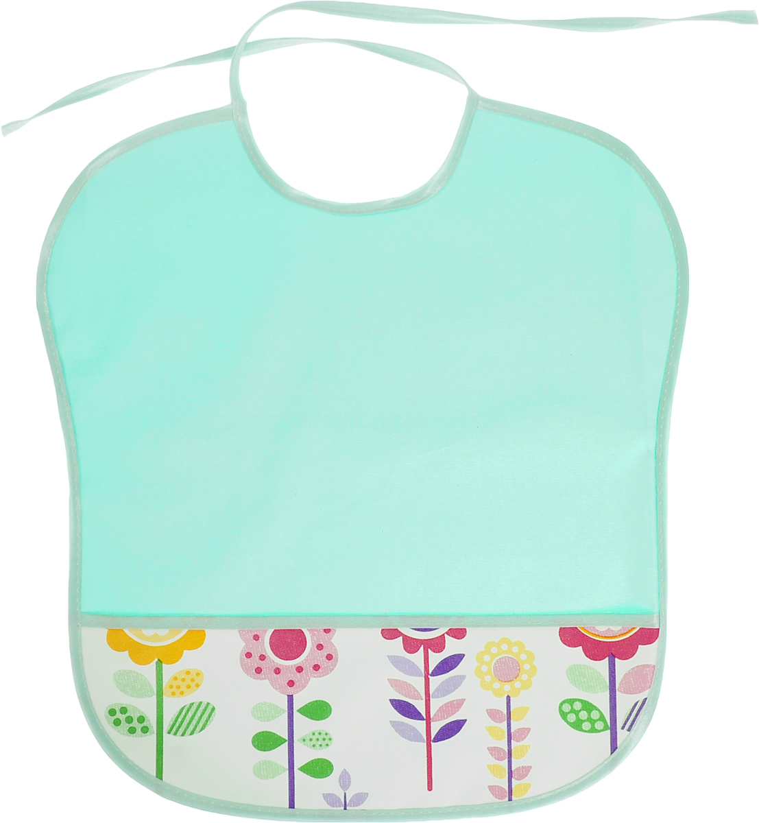 Колорит Нагрудник с карманом цвет бирюзовый -  Все для детского кормления