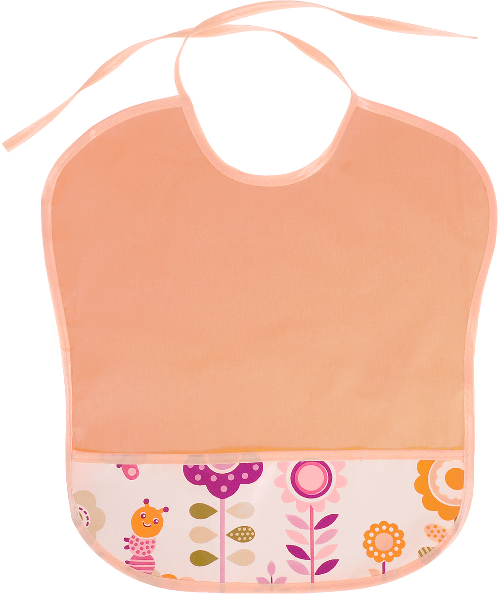 Колорит Нагрудник с карманом Цветы цвет оранжевый 33 см х 33 см колорит нагрудник с карманом цвет желтый оранжевый 33 см х 33 см