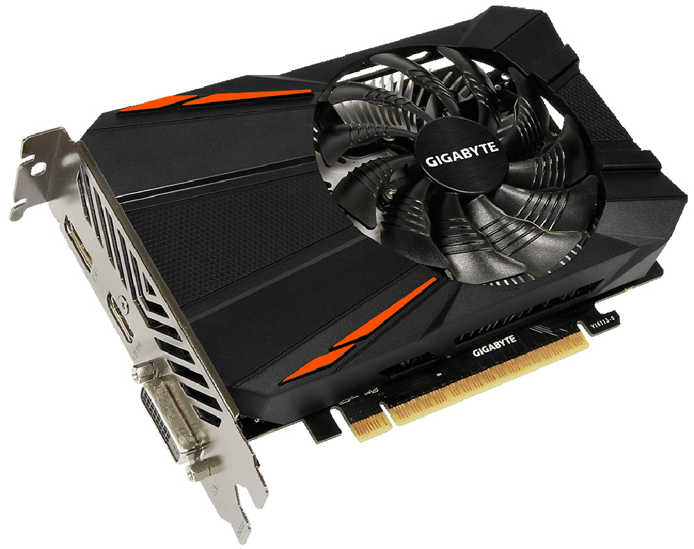 Gigabyte GeForce GTX 1050 D5 2G 2GB видеокарта