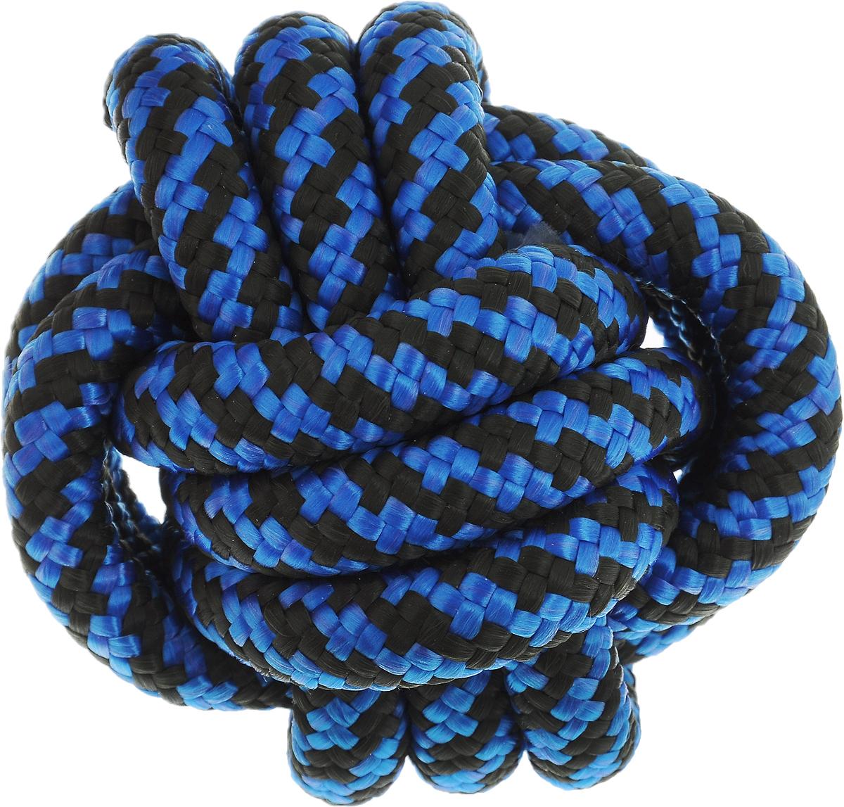 Игрушка для собак Zoobaloo Кулак обезьяны, цвет: синий, серый, диаметр 10 см игрушки для животных zoobaloo игрушка для кошки бамбук плюшевый мяч на резинке 60см