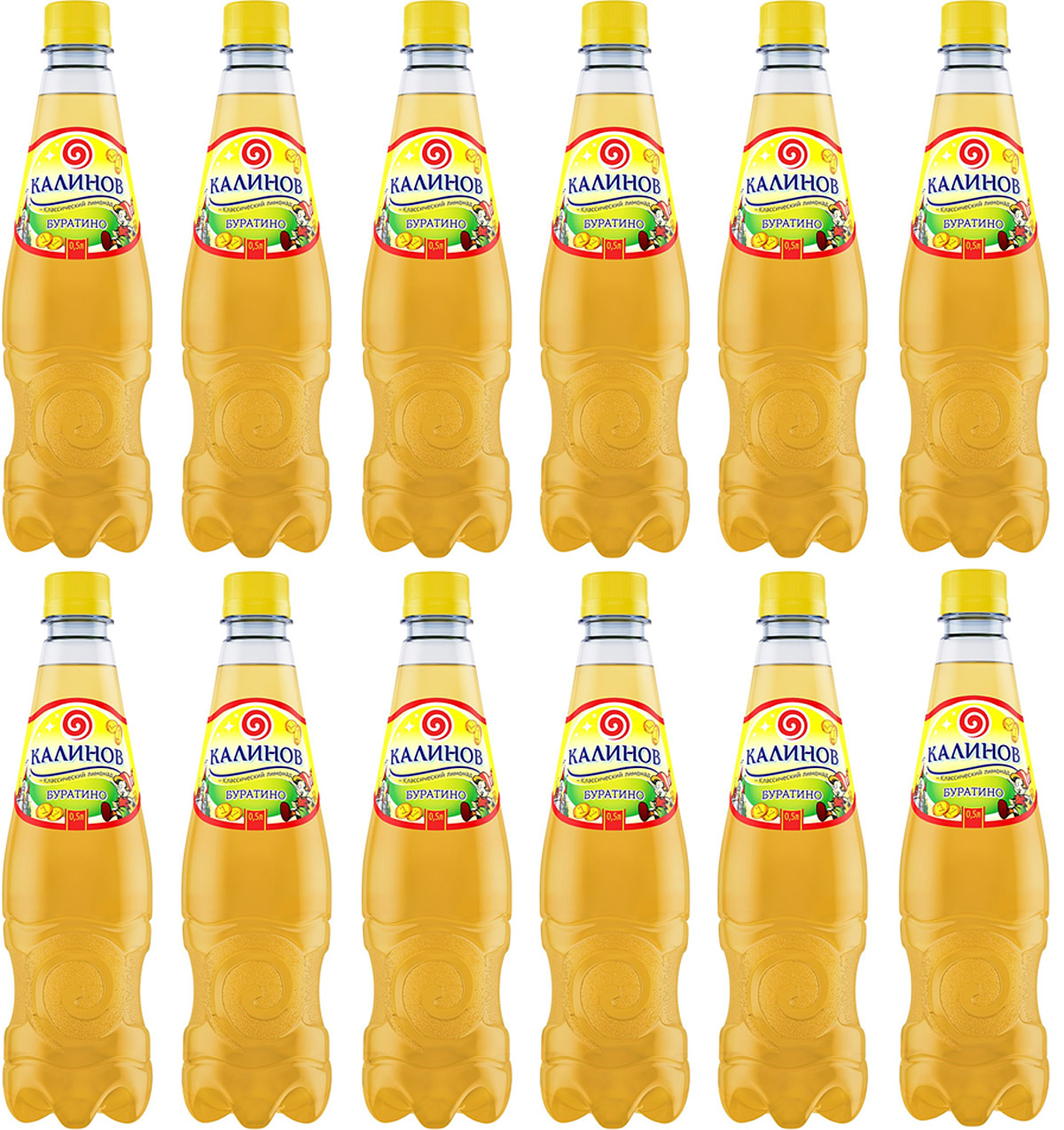 Калинов Лимонад Буратино, 12 шт по 0,5 л калинов лимонад буратино 12 шт по 0 5 л