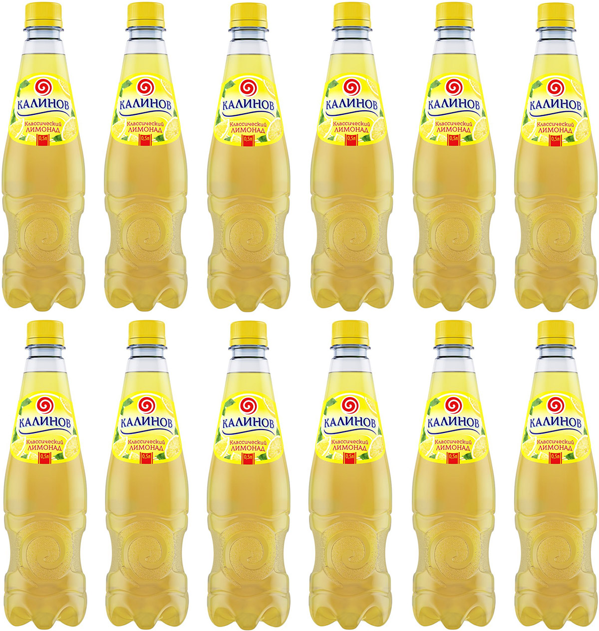 Калинов Лимонад классический, 12 шт по 0,5 л калинов лимонад буратино 12 шт по 0 5 л