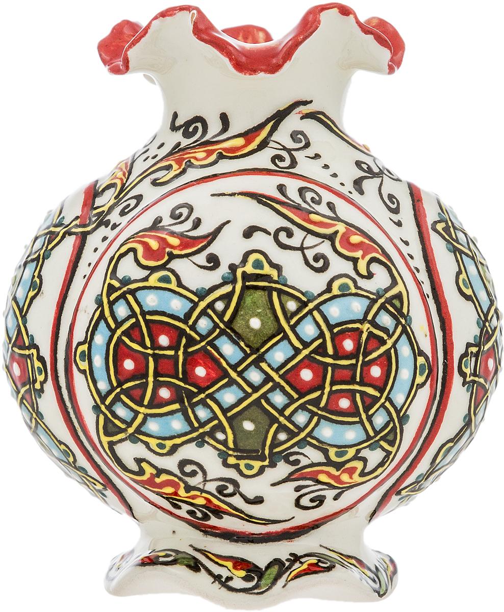 Вазочка миниатюрная. Керамика, роспись, цветные эмали, ручная работа. Россия магнит пингвин с мороженым авторская работа стекло роспись магнит ручная работа россия