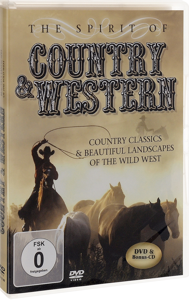 The Spirit Of Country & Wester: Country Classic & Beatiful Landscapes Of The Wild West (DVD + CD) cd stevie nicks the wild heart
