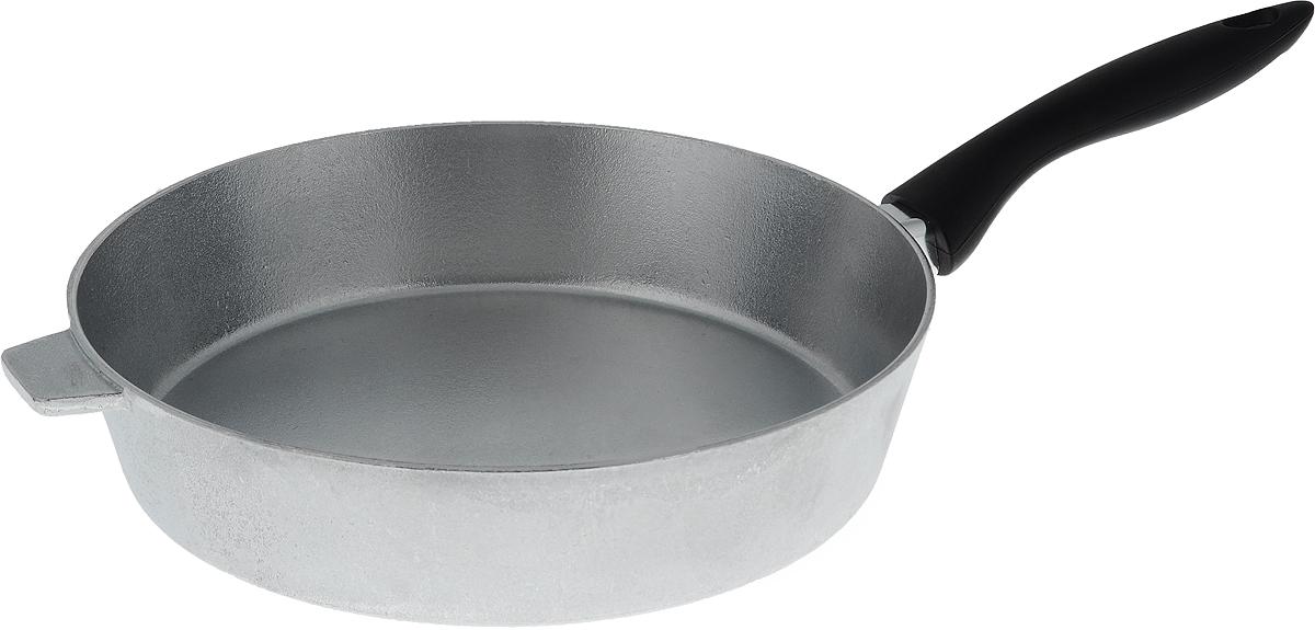 Сковорода Алита Хозяюшка. Диаметр 28 см13100Сковорода Алита Хозяюшка, изготовленная из литого алюминиевого сплава AK5M2П, прекрасно подходит для приготовления повседневных блюд. Гладкая поверхность обеспечивает легкость ухода за посудой. Изделие оснащено удобной пластиковой ручкой, которая не нагревается в процессе готовки.Подходит для использования на всех типах плит, кроме индукционных.Диаметр сковороды (по верхнему краю): 28 см.Высота стенки: 6,5 см.Длина ручки: 19 см.