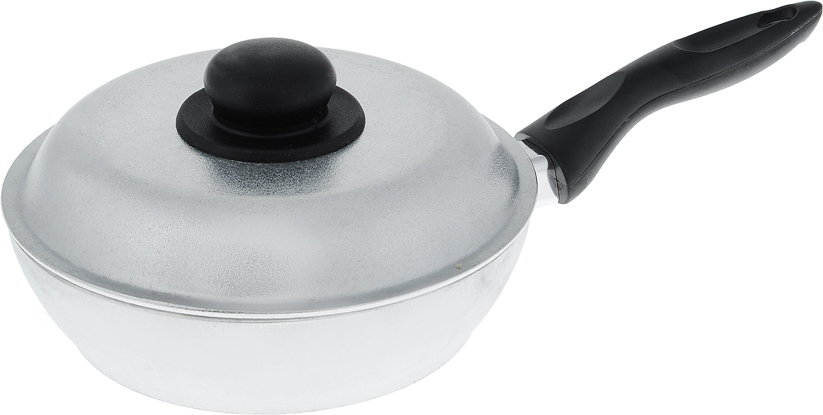 Сковорода Алита Алена с крышкой. Диаметр 20 см10200Сковорода Алита Алена, изготовленная из литого алюминиевого сплава AK5M2П, прекрасноподходит для приготовления повседневных блюд. Гладкая поверхность обеспечивает легкостьухода за посудой. Изделие оснащено крышкой и удобной пластиковой ручкой, которая ненагревается в процессе готовки. Подходит для использования на всех типах плит, кроме индукционных. Диаметр сковороды (по верхнему краю): 20 см. Высота стенки: 5,5 см. Длина ручки: 16 см.