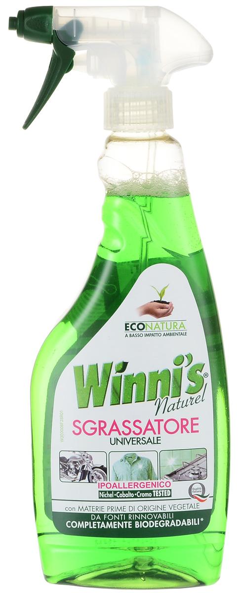 Универсальный обезжириватель Winnis Sgrassatore, 500 мл0082Winnis Sgrassatore - универсальное обезжиривающее средство для удаления всех следов грязи с моющихся поверхностей. Идеально подходит для чистки духовок, вытяжек, грилей, кастрюль, мангалов, а также для удаления жира и масла с тканей. Его формула разработана для того, чтобы свести до минимума возникновение аллергий. Средство прошло испытание на никель (порог Способ применения: повернуть распылитель в положение ON. Распылить на поверхность с расстояния приблизительно 20 см, оставить на несколько секунд, после чего стирать обычным способом. Для чистки духовки выдержать средство в нагретой духовке (50°С-60°С) в течение 5-10 минут. Ткани: распылить на пятно, оставить на несколько секунд, после чего стирать обычным способом. В конце использования повернуть распылитель в положение OFF.Меры предосторожности:Не допускать высыхания средства на ткани. Не использовать на поликарбонате, плексигласе, дереве, алюминии и пористых поверхностях. Хранить в недоступном для детей месте. В случае попадания в глаза немедленно промыть их большим количеством воды и обратиться к врачу. Не допускать попадания в пищевод. В случае попадания в пищевод, немедленно обратиться к врачу и предъявить ему упаковку или этикетку. Не вдыхать распыленный продукт. Характеристики: Размер емкости: 9 см х 4,5 см х 27 см.Размер упаковки: 9 см х 4,5 см х 27 см.Состав: ниже 5% фосфонаты, неионные поверхностно-активные вещества, прочие компоненты.Уважаемые клиенты! Обращаем ваше внимание на возможные изменения в дизайне упаковки. Качественные характеристики товара остаются неизменными. Поставка осуществляется в зависимости от наличия на складе.