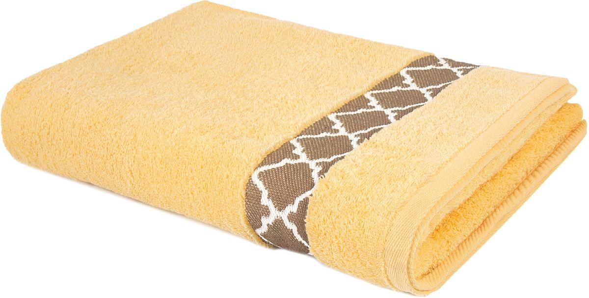 Полотенце махровое Aquarelle Таллин-1, 70 х 140 см, цвет: светло-желтый. 707727 полотенце махровое aquarelle таллин 1 цвет ваниль 50 х 90 см 707762