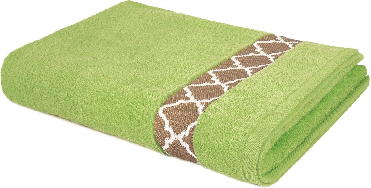 Полотенце махровое Aquarelle Таллин-1, цвет: травяной, 50 х 90 см bon appetit кухонное полотенце aquarelle 38х63 см