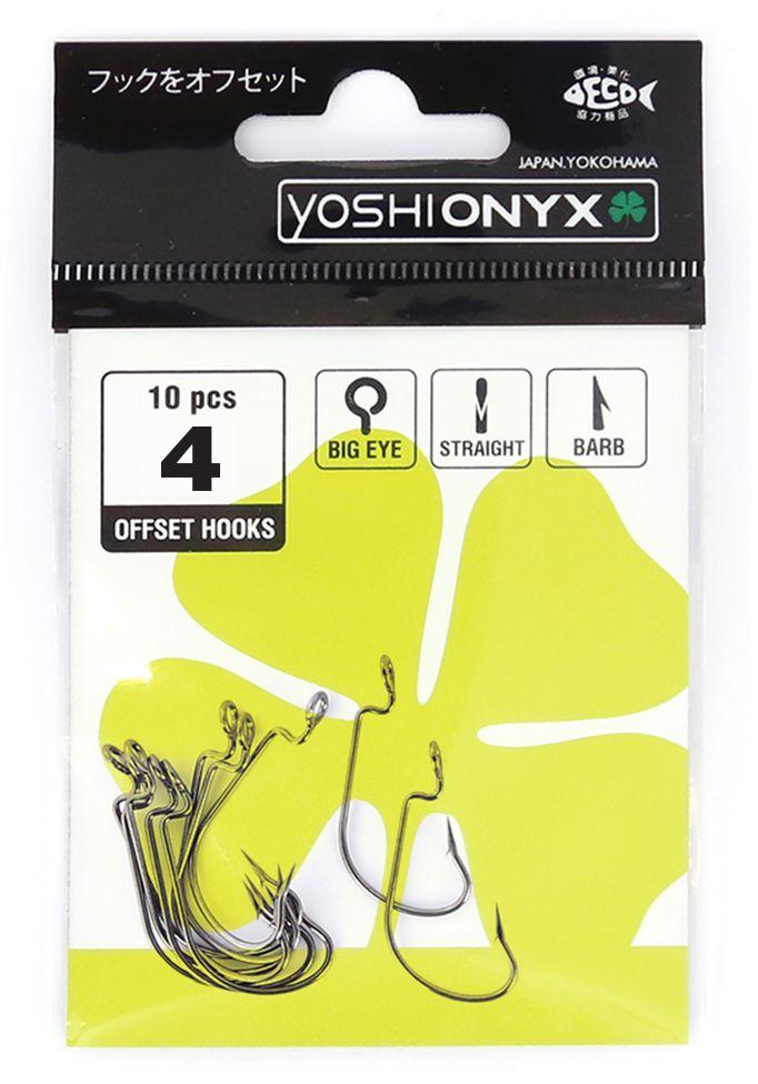 Крючки офсетные Yoshi Onyx Offset Hook Big Eye, №4, 5 шт97444Удлиненные офсетные кованные крючки Yoshi Onyx Offset Hook Long Big Eye с химической заточкой выполнены из высококачественной стали. Но острота и прочность это не главные их достоинства. Во-первых, крючки спроектированы с увеличенным ушком, благодаря чему, теперь не придется тщательно выбирать для них разборный груз. Даже самая толстая проволока любой чебурашки с легкостью пройдет в ушко. Это обеспечит подвижность и легкость шарнирного монтажа. А во-вторых, производитель положил в упаковку еще и волшебный бонус - пружинки для монтажа силиконовых приманок. Пружинки нужны для того, чтобы при поклевках приманка, как это частенько бывает не измочаливалась и не рвалась. Наши эксперты заметили, что при монтаже силикона на пружину, приманка живет в несколько раз дольше, чем при ее классическом монтаже на офсетный крючок.