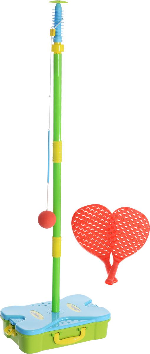 Mookie Игровой набор Веселый теннис цвет голубой зеленый