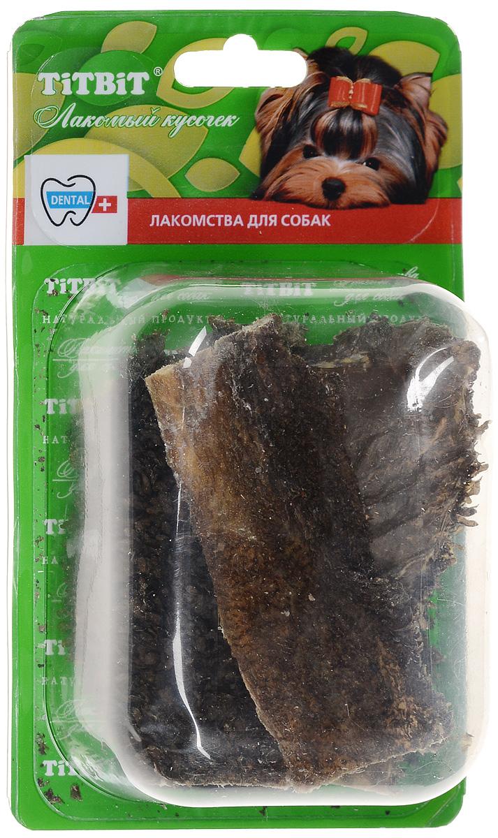 Лакомство для собак Titbit, говяжий желудок, 40 г6667Лакомство для собак Titbit представляет собой высушенные пластины говяжьего рубца. Упаковка содержит 8-9 пластин длиной 11 см. Говяжий рубец представляет собой часть желудка КРС, точнее - первый из его преджелудков, в котором содержится полезная микрофлора. Ворсинки неочищенного сушеного рубца сохраняют на себе ферменты и витамины группы В, вырабатываемые его микрофлорой при жизни животного. Содержат низкокалорийный, легкоусвояемый белок. Благодаря особой технологии сушки сохраняется до 60% процентов полезных веществ. Рубец говяжий способствует улучшению пищеварения и устранению дисбактериоза. Состав: высушенный говяжий рубец.Товар сертифицирован.Уважаемые клиенты! Обращаем ваше внимание на возможные изменения в дизайне упаковки. Качественные характеристики товара остаются неизменными. Поставка осуществляется в зависимости от наличия на складе.