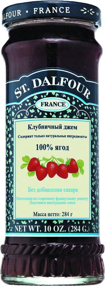 St.Dalfour Джем Клубника, 284 г207009Без сахара. Изготовлен по старинным французским рецептам. Не содержит консервантов, искусственных ароматизаторов и красителей. Содержит только натуральные ингредиенты.