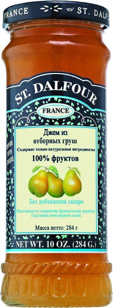St.Dalfour Джем Отборная груша, 284 г207035Без сахара. Изготовлен по старинным французским рецептам. Не содержит консервантов, искусственных ароматизаторов и красителей. Содержит только натуральные ингредиенты.