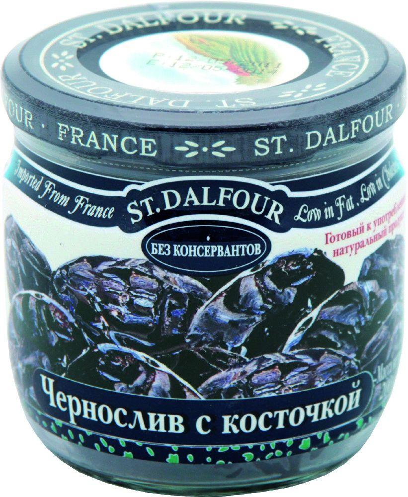 St.Dalfour Чернослив с косточкой, 200 г чернослив дары садов сушеный с косточкой 200г