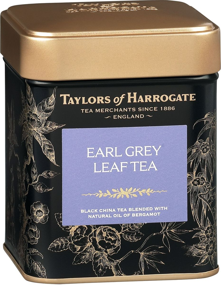 Taylors of Harrogate Эрл Грей чай черный листовой, 125 г292234Высококачественный черный чай с натуральным маслом бергамота. История появления этого чая окружена множеством легенд. В одной из них говорится о графе Грее, премьер-министре Британии в 1830-1834 гг. Во время дипломатической миссии в Китай один из его дипломатов спас жизнь китайского мандарина, за что был награжден секретным рецептом приготовления чая с бергамотом. Согласно преданию, этот чай восстанавливает гармонию души и тела. Наш чай Эрл Грей создан из лучших сортов черного чая и натурального масла бергамота. Прозрачный светлый чай с тонким ароматом бергамота стал классическим чаем, получившим мировую известность. Способ приготовления: для приготовления этого восхитительного напитка засыпьте в хорошо прогретый заварной чайник листья чая Эрл Грей, из расчета 1 ч. л. на человека плюс еще одна на сам чайник, и залейте только что вскипяченной водой. Настаивайте в течение 4-5 минут. При подаче на стол можно добавить молока или ломтик лимона.Всё о чае: сорта, факты, советы по выбору и употреблению. Статья OZON Гид