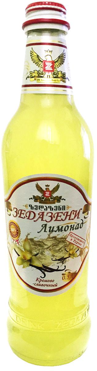 Зедазени Лимонад Кремово-Сливочный, 500 мл4860103350213Лимонад Zedazeni изготовлен исключительно из натуральных ароматизаторов. Лимонад, который сделан для тех, кто ценит подлинный вкус свежих фруктов, она подойдет любому семейное торжество или праздник. Углеводы: 12,8 / 100 мл. Питательная ценность: 51 ккал / мл.