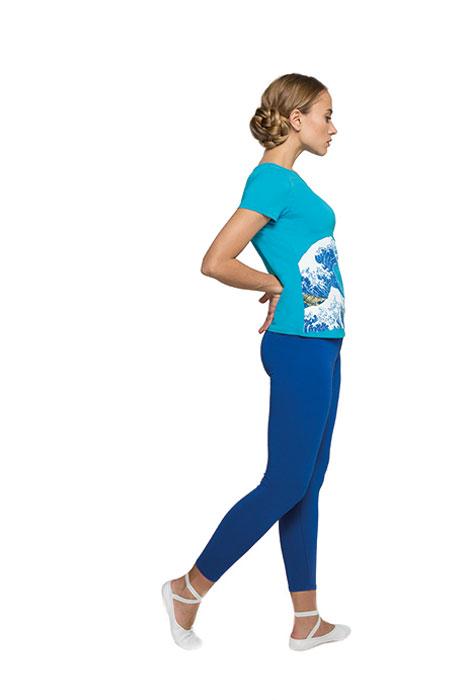 Купить Лосины женские Grishko, цвет: синий. AL-3073. Размер M (46)