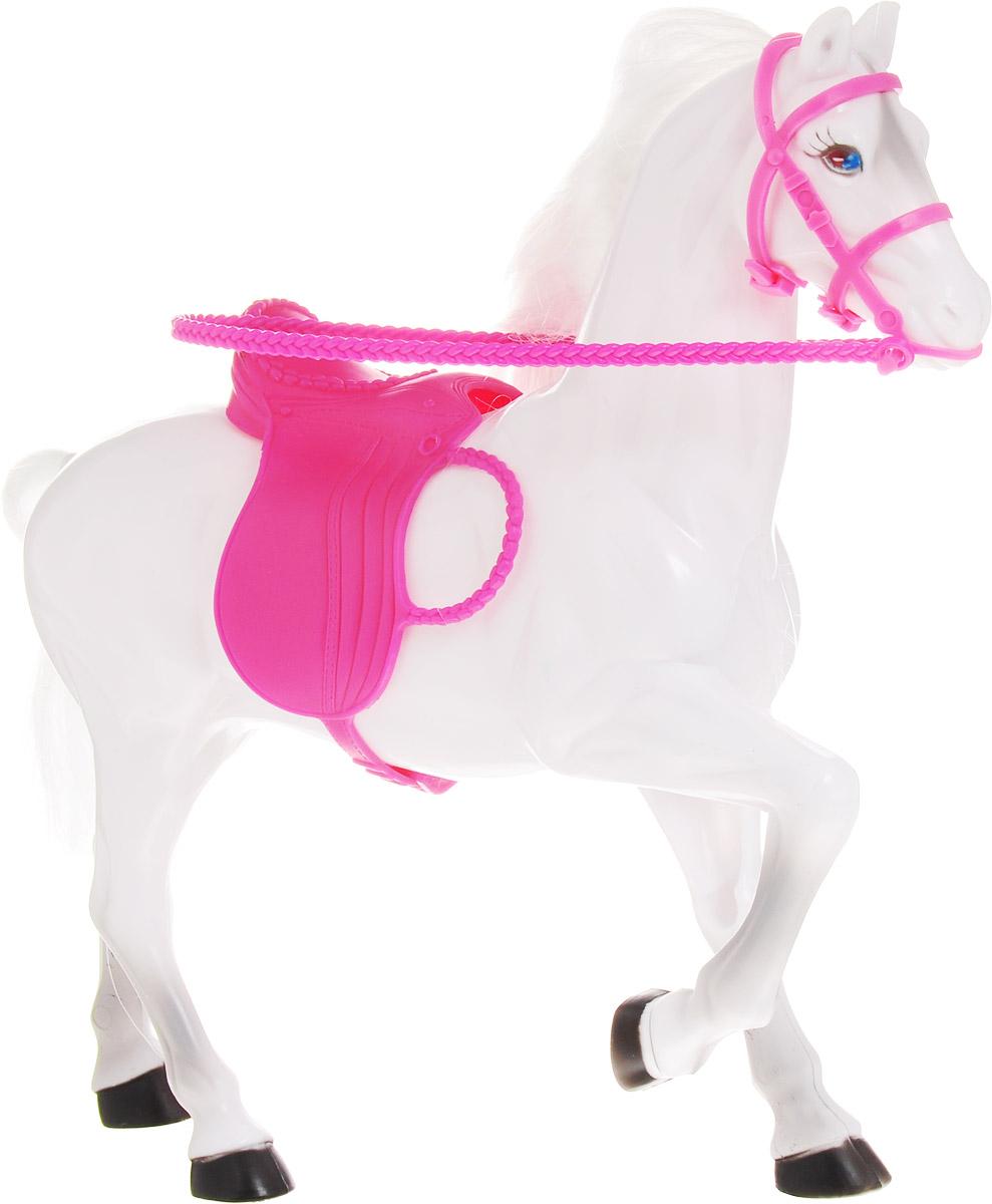 Gloria Лошадка для кукол цвет белый резиновая лошадка для прыганья