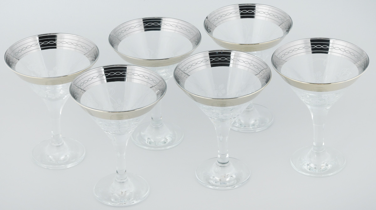 Набор бокалов для мартини Гусь-Хрустальный Батерфляй, 170 мл, 6 шт набор бокалов для бренди гусь хрустальный версаче 400 мл 6 шт