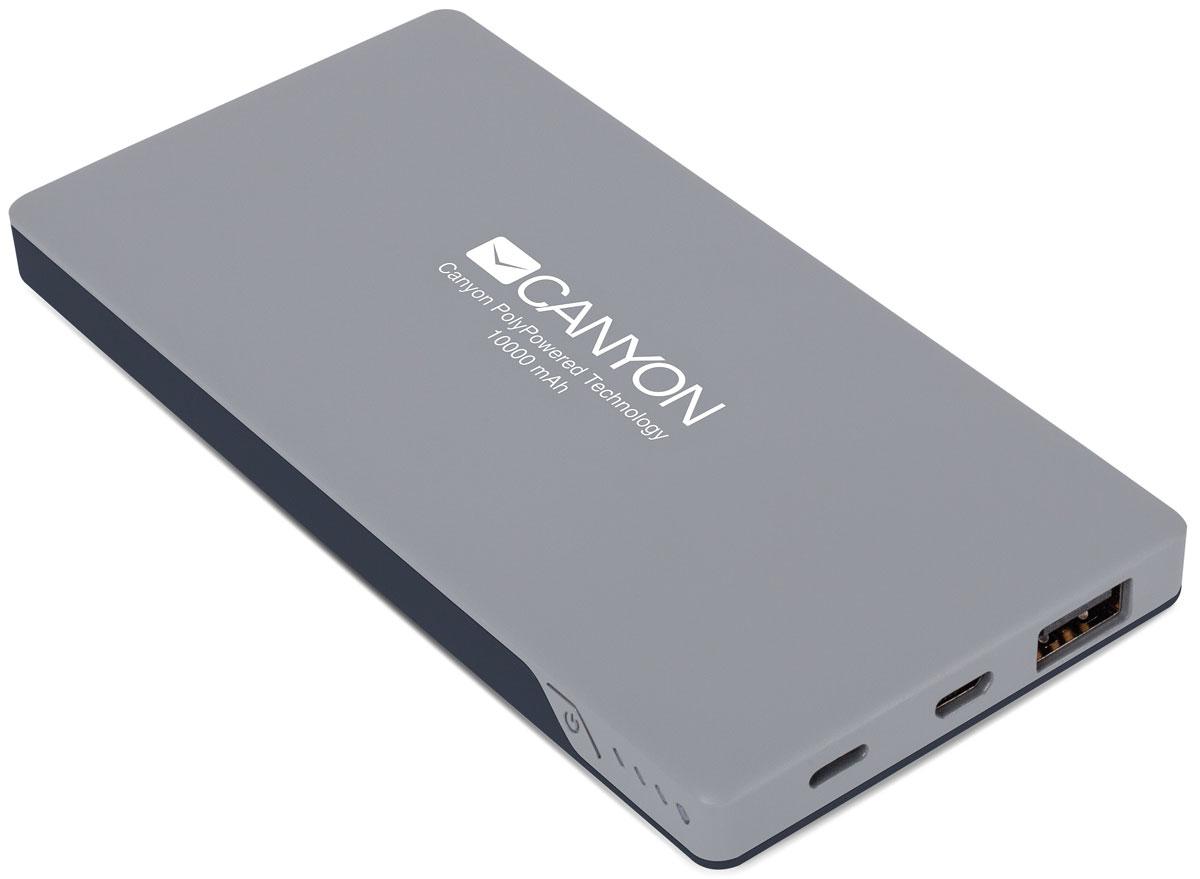 Canyon CNS-TPBP10DG, Dark Gray внешний аккумулятор (10000 мАч) портативный аккумулятор cne cpb100dg 10000 мач canyon