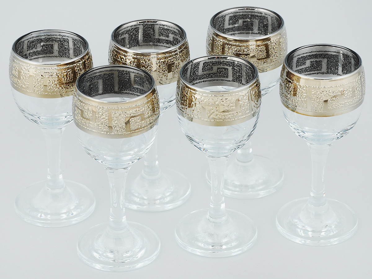 Набор рюмок для вина Гусь-Хрустальный Греция, 60 мл, 6 шт134/40Набор для вина Гусь-Хрустальный Греция состоит из шести рюмок на ножке. Изделия выполнены из прочного натрий-кальций-силикатного стекла. Они излучают приятный блеск и издают мелодичный звон. Набор предназначен для вина. Набор рюмок Гусь-Хрустальный Греция прекрасно оформит интерьер кабинета или гостиной и станет отличным дополнением бара. Такой набор также станет хорошим подарком к любому случаю. Диаметр по верхнему краю: 4,5 см.Высота рюмок: 10,5 см.Диаметр основания: 5 см.