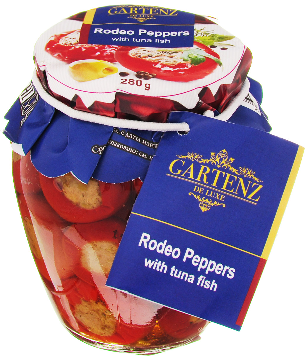 Gartenz de Luxe перчики фаршированные тунцом, 280 г мингаз байкальский дар напиток 0 5 л