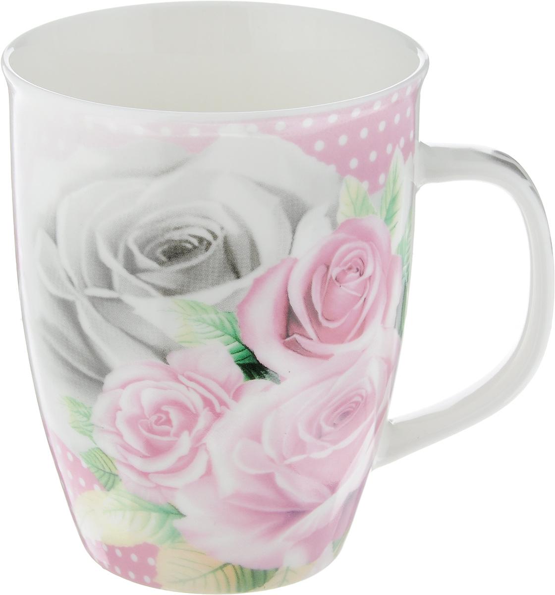 Кружка Loraine Розы, 340 мл25969_розыКружка Loraine Розы изготовлена из прочного качественного костяного фарфора. Изделие оформлено красочным рисунком. Благодаря своим термостатическим свойствам, изделие отлично сохраняет температуру содержимого - морозной зимой кружка будет согревать вас горячим чаем, а знойным летом, напротив, радовать прохладными напитками. Такой аксессуар создаст атмосферу тепла и уюта, настроит на позитивный лад и подарит хорошее настроение с самого утра. Это оригинальное изделие идеально подойдет в подарок близкому человеку. Диаметр (по верхнему краю): 8,5 см.Высота кружки: 10,5 см.